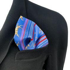Sequences Hermes Pocket Square by Caty Latham Silk 42 cm – Carre de Paris Burberry Men, Gucci Men, Hermes Men, Tom Ford Men, Hugo Boss Man, Rolex Submariner, Calvin Klein Men, Rolled Hem, Pocket Square