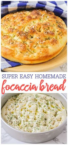 Focaccia Bread Crisp yet fluffy bread topped with delicious herbs and seasonings. This flavorful focaccia bread is so easy to make and is perfect for sandwiches dipping in soups or enjoying on its own! The post Focaccia Bread appeared first on Getränk. Bread Machine Recipes, Easy Bread Recipes, Cooking Recipes, Bread Flour Recipes, Breakfast Bread Recipes, Best Bread Recipe, Top Recipes, Kitchen Recipes, Easy Cooking