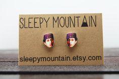 Lobby Boy Earrings  Wes Anderson Grand Budapest Hotel by SleepyMountain, $9.00