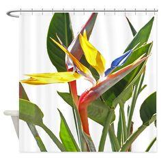 Bird of Paradise Shower Curtain on CafePress.com