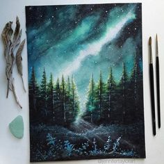 The Magical Bridge Between Landscape Paintings and Reality and Imagination: Jennifer Taylor - Art Drawings Galaxy Painting, Galaxy Art, Art Galaxie, Art Inspo, Art Et Nature, Blog Art, Drawn Art, Art Academy, Painting & Drawing