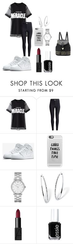 """""""teenage dream"""" by west-sidee ❤ liked on Polyvore featuring Chicnova Fashion, H&M, Casetify, Marc by Marc Jacobs, Palm Beach Jewelry, NARS Cosmetics, Essie and cute"""