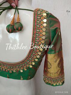 Best Blouse Designs, Wedding Saree Blouse Designs, Simple Blouse Designs, Stylish Blouse Design, Traditional Blouse Designs, Mirror Work Blouse Design, Maggam Work Designs, Photo Kids, Aerobic Exercises