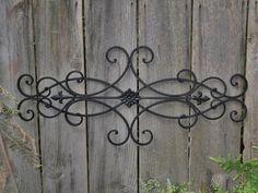 (buy two?) Wrought Iron Wall Deco / Fleur de Lis / Shabby by Theshabbyshak, $42.99