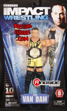 RINGSIDE COLLECTIBLES WWE Toys, Wrestling Action Figures, Jakks Pacific, Classic Superstars Action F: ROB VAN DAMTNA DELUXE IMPACT 8TNA Toy Wrestling Action Figure