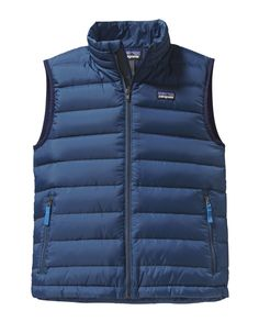 Patagonia Boys Down Vest | A lightweight extra layer that traps heat down and can compress into a conveniently small size to stow away whether you're headed to the park or further afield.