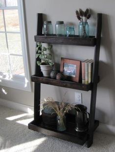 Leaning Wall Shelves, A Little Bit Smaller | Do It Yourself Home Projects from Ana White