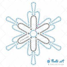 Crochet ideas that you'll love Free Crochet Snowflake Patterns, Crochet Symbols, Crochet Stars, Christmas Crochet Patterns, Crochet Snowflakes, Crochet Flower Patterns, Crochet Designs, Crochet Flowers, Crochet Diagram