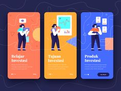 Onboarding Investment App designed by salestinus sustyo h for Paperpillar. Connect with them on Dribbble; the global community for designers and creative professionals. Web Design, Graphic Design Trends, Design Lab, Flat Design, Ui Design Inspiration, Branding, Game App, Mobile Ui, Show And Tell