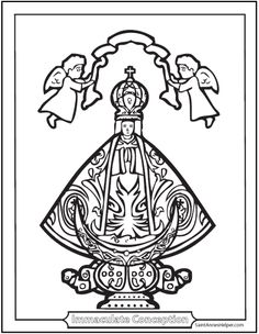 3 immaculate conception coloring pages