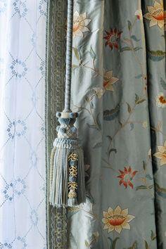 Silk, Lace and Custom Drapery Pull www.lindafloyd.com: