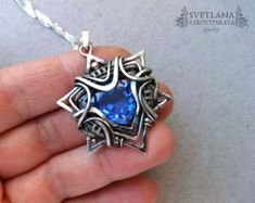 Gold Labradorite pendant Silver Pendant by sweetsjewelryshop
