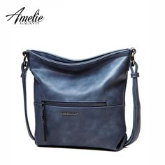 AMELIE GALANTI Zip Pocket Large Women s Leather Crossbody Shoulder Women  Bags Big Capacity Bags Messenger Bag PU Hobo Bag 54ec73e6e7b51