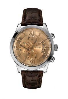Часы Guess мужские. Цвет: коричневый. Сезон: Весна-лето 2014. С бесплатной доставкой и примеркой на Lamoda. http://j.mp/1nWQ7RI