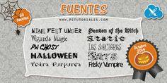 Fuentes Octubre 2014 (Halloween) | PS Tutoriales