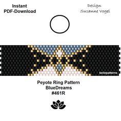 ARTIKELDETAILS: BlueDreams #461R Peyote Ring Muster Perlen: Miyuki Delica 11/0 Größe: 1,75cm x 6,9 cm/ 0.69 x 2.72 Peyote - ungerade VORKENNTNISSE: Peyote Stich Das gelieferte Muster enthält keine Anleitung für den Peyote Stich! SOFORT-DOWNLOAD - ein Muster/Pattern im PDF-Format - 2