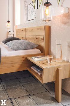Robust und dennoch schick: Unsere Massivholzgarnituren. 🌳 #meinhöffi   #höffner #hoeffner #wohnen #möbel #wohnraum #wohndesign #wohnidee #holz #schlafzimmer Diy Projects For Adults, Floating Nightstand, Stuff To Do, Storage, Table, Furniture, Home Decor, Bedroom, Wooden Bedroom
