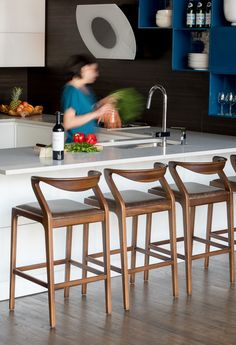 The Duda Stool (counter height) by Brazilian Aristeu Pires warms up any kitchen. Delivered in 21 days anywhere in the USA.