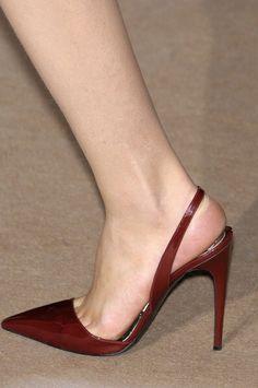 Wine colour high heel slingback shoes at Stella McCartney Hot Shoes, Women's Shoes, Me Too Shoes, Shoe Boots, Platform Shoes, Stilettos, Stiletto Heels, High Heels, Pretty Shoes