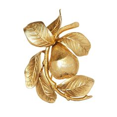 Vintage Henkel & Grossé Pear Brooch | From a unique collection of vintage brooches at https://www.1stdibs.com/jewelry/brooches/brooches/