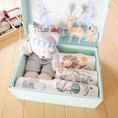 正品新生儿礼盒 四季通用新款纯棉长袖T恤连体哈衣婴儿礼品盒宝宝