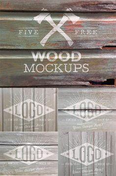 5 Free Weathered Wood Logo Mockup Textures (107 MB) | blog.spoongraphics.co.uk