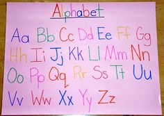 Alphabet sticker chart - put sticker on when they can write it