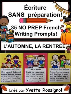 """Your French Immersion students will be able to use their creative writing skills with these French writing prompts on the theme """"les animaux """" . The 35 titles require No Preparation! French Teaching Resources, Teaching French, Teaching Tools, Student Learning, Kids Learning, Writing Skills, Writing Activities, Writing Prompts, Writing Ideas"""