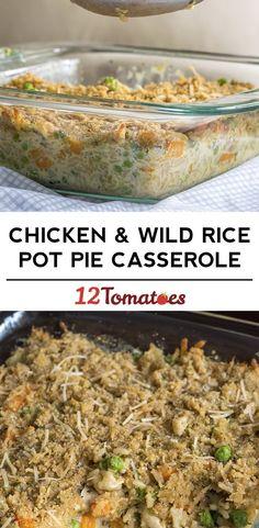 Chicken and Wild Rice Pot Pie Casserole