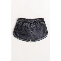 Kendall & Kylie Eyelash Lace Tulip Shorts ($30) ❤ liked on Polyvore featuring shorts, beach shorts, high-rise shorts, high waisted shorts, stretch waist shorts and kirra shorts