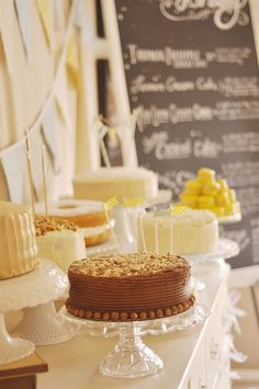 Cake Buffet Wedding - great idea for a more casual wedding reception