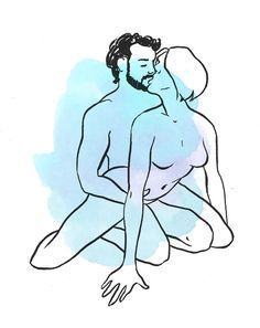 out of control cowgirl sex position illustration