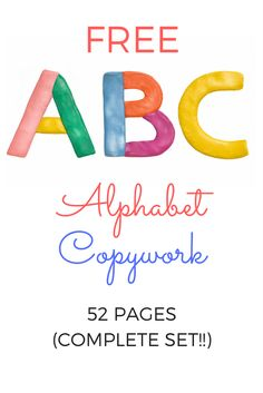 Free Alphabet Copywork Printable! Handwriting practice for upper and lowercase letters! improve your child's handwriting and increase letter recognition!