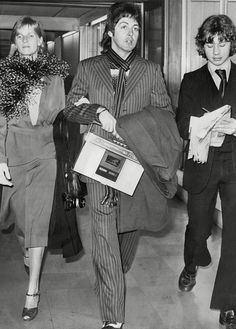 Linda and Paul McCartney Airport Style. '70s Travel Images That Will Inspire Some Major Wanderlust via @WhoWhatWear