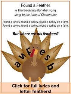 Thanksgiving Alphabet Song, Turkey Song, Preschool Thanksgiving