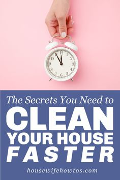Get your house clean in less time with these cleaning secrets and fast cleaning hacks. #cleaninghacks #cleaningtips #householdtip #cleaning #cleanhouse #cleaningadvice #housewifehowtos Speed Cleaning, Cleaning Day, Cleaning Hacks, Spring Cleaning, Deep Cleaning Schedule, Cleaning Checklist, Bathroom Storage Solutions, Cleaning Solutions, How To Get Motivated