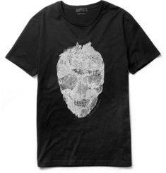 Skull-Print Cotton T-Shirt