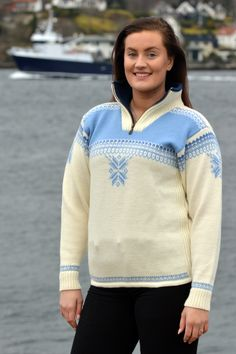 A sporty sweater perfect for winteractivities – knitted in wool, with a high zipped collar and a soft fleece lining. A practical elastic drawstring at the base of the sweater gives it a perfect snug fit on the hip Boss Lady, Cardigans For Women, Snug Fit, Knitwear, Sporty, Sweatshirts, Sweaters, Jackets, Fashion