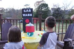 """Car Wash"" bubble station - the kids loved playing with the bubbles and it was a cute addition to the car theme :-)"