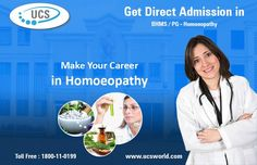 Make Your #Career in #Homoeopathy with #UCSWorld!!  http://ucsworld.com/courses-eligibility/  #Education  #UniversalConsultingService #DirectAdmission