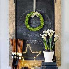 I took this a few days ago...but it was a miscount. I don't do well with numbers. Or chalkboard art. 😬 The paper whites and wreath are from several years back but I linked to similar ones because these items are timeless and if you're looking to buy Christmas decor, go with something classic that will never go out of style- advice a sage sister @dearlillie once gave me when I was a newlywed! 😉  @liketoknow.it #liketkit http://liketk.it/2pzXn #ltkhome @liketoknow.it.home #wowusweekdays…