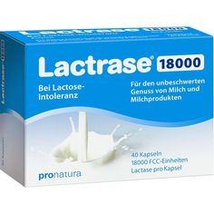 LACTRASE 18.000 FCC Kapseln:   Packungsinhalt: 40 St Kapseln PZN: 09545221 Hersteller: Pro Natura Gesellschaft für gesunde Ernährung mbH…
