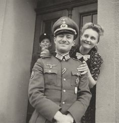 A private snapshot of a German military family