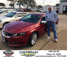 My buying experience to this point has been positive. Mark demonstrated a keen knowledge of the vehicle features and acted professional throughout the buying experience. I felt Mark was trustworthy and it was his friendly demeanor that promoted confidence and influenced my decision to consider and ultimately purchase from Huffines. Mark also strove to minimize our time spent at the dealership and collaborated over email as I desired.  Tom Hicks Tuesday, February 17, 2015