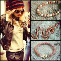 Everyone can be a #Rockstar! Mala beads are a great addition to your trendy outfits & statement moments. #Leather #Boho #Style #Edge #Mala #Fall
