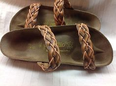 braided birkenstock sandals - Need em now Sock Shoes, Cute Shoes, Me Too Shoes, Shoe Boots, Sandals Outfit, Shoes Sandals, Dress Shoes, Shoe Closet, Shoes