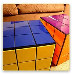 The Rubik's cube coffee table is available to buy online from Jellio.com.