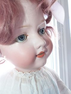 My newest antique doll, just an AM but I am in love! Am In Love, Antique Dolls, Antiques, Beautiful, Collection, Vintage Dolls, Antiquities, Antique