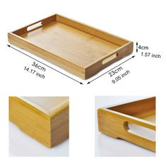 13 x Bamboo Kongfu Tea Tray Anti-Skip Flat Wooden Scroll Service Pallet Small Wood Projects, Diy Pallet Projects, Diy Outdoor Table, Wooden Serving Trays, Tea Tray, Beginner Woodworking Projects, Wood Tray, Wooden Diy, Wood Crafts