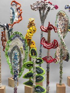 ArtistJerry Bleem, who was recently featured in20 Awesome Male Crocheters, crocheted this piece above from 'plarn' aka plastic bag yarn.  Wow.